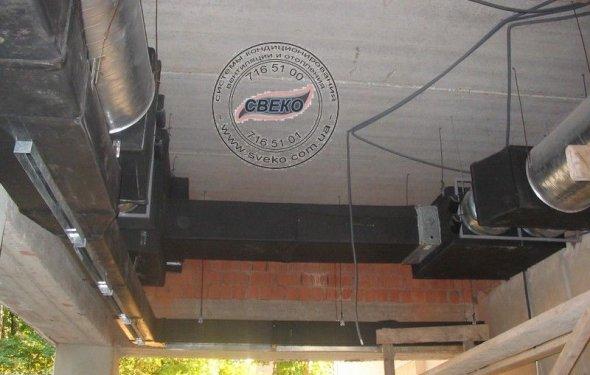 Монтаж системы вентиляции для